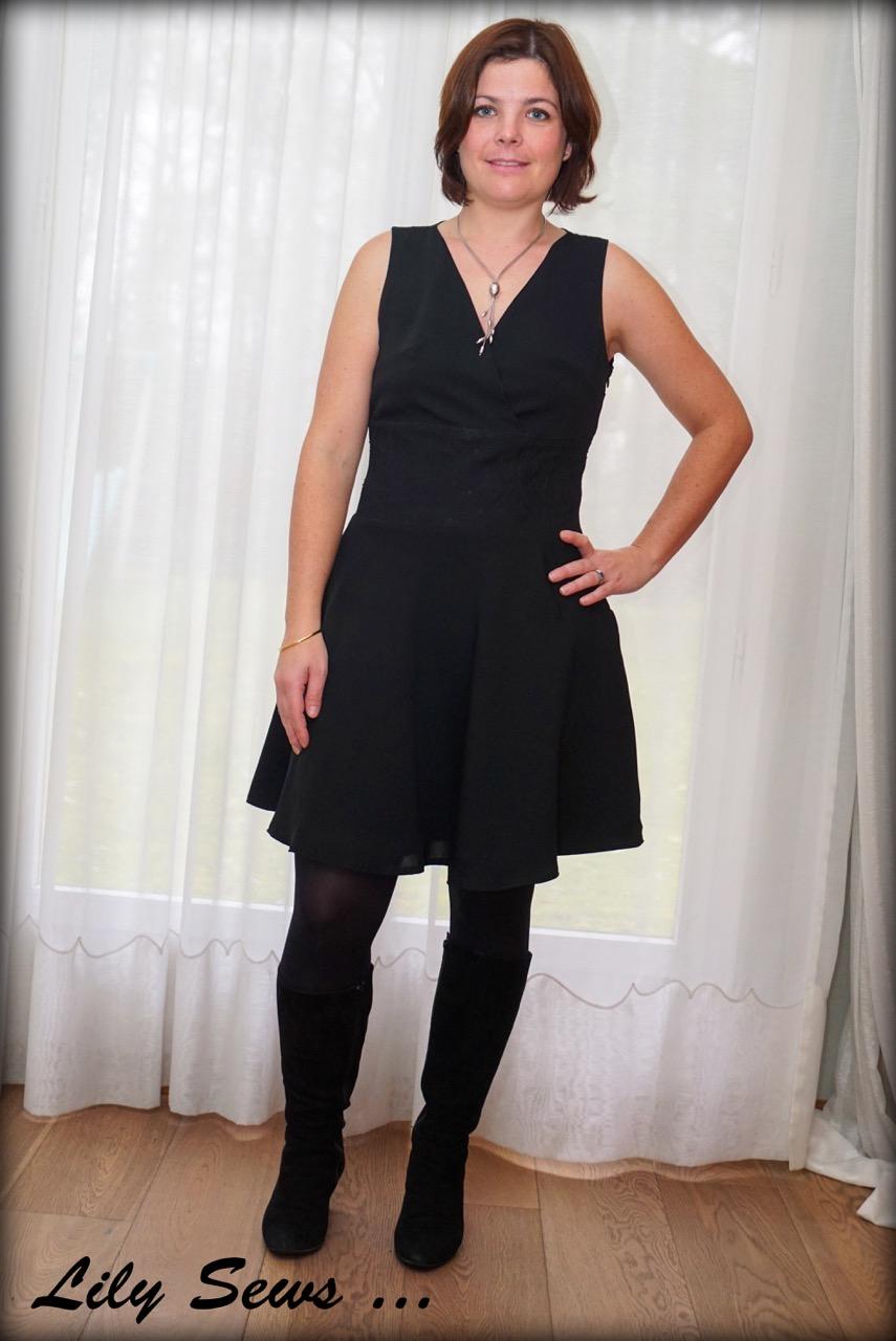 copie robe maje noir dentelle